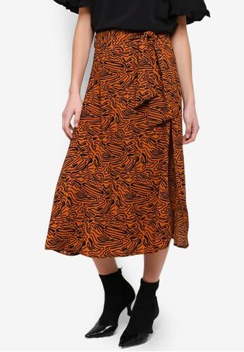 Vero Moda orange Fava Midi Skirt C5846AA3B1BE9AGS_1
