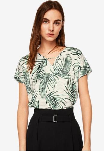 Mango green Combined Printed T-Shirt 47F73AA61E8B7FGS_1