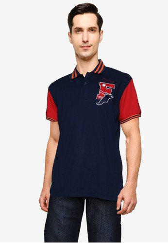 Fidelio navy Champs Embroidery Polo Shirt 978E5AAAFAD48CGS_1
