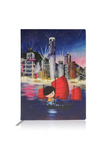 Monocozzi navy Little Lon x MONOCOZZI - PU Leather A5 Notebook - Night View A27B6ACB0487E7GS_1