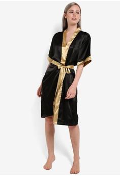 96cacab8c0 53% OFF Impression Satin Kimono Robe RM 192.00 NOW RM 89.90 Sizes L