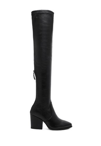 Twenty Eight Shoes black Long Boots PU 166 TW446SH79UAIHK_1
