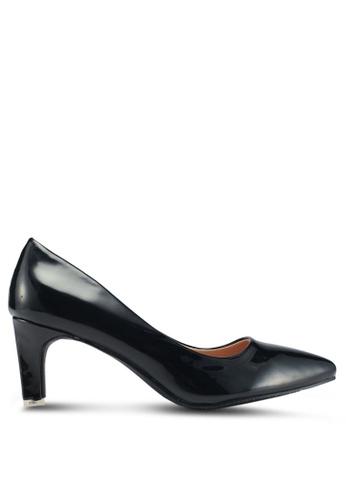 Mimosa 黑色 經典尖頭低跟鞋 6CE84SH54A6C33GS_1