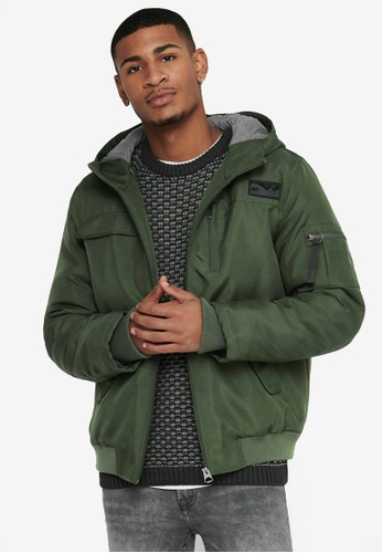 Only & Sons green Mountain Winter Jacket AC00CAAA1ED392GS_1
