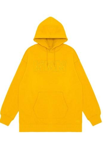 Mini cream yellow MMM embroidered hoodie D81E8AA070B80CGS_1