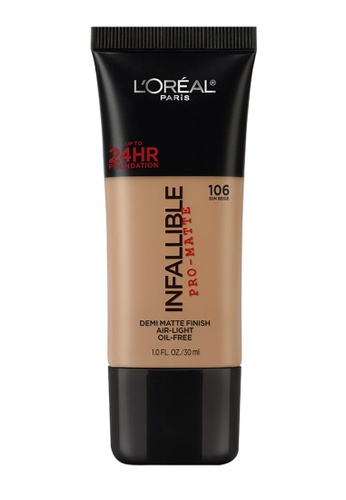L'Oréal Paris brown L'Oreal Paris Infallible Pro-Matte Liquid Foundation - 106 Sun Beige 5808BBE91955FDGS_1
