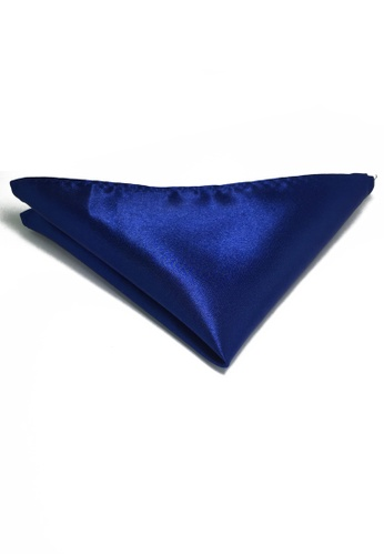 Splice Cufflinks Lustrous Series Electric Blue Polyester Pocket Square SP744AC70KTXSG_1
