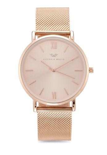Victoria Walls Watches gold Designer Watch-Elegant Milanese Mesh Strap 5DCFAAC7146259GS_1