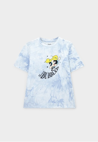 Pomelo blue The Powerpuff Girls Bubbles Graphic T-Shirt - Blue BD827AA8926FC7GS_1