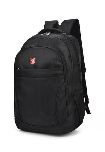 Lara 黑色 男士最新款耐磨防震透氣休閒旅行背包學生書包 - 黑色 F890DAC1329DFAGS_1
