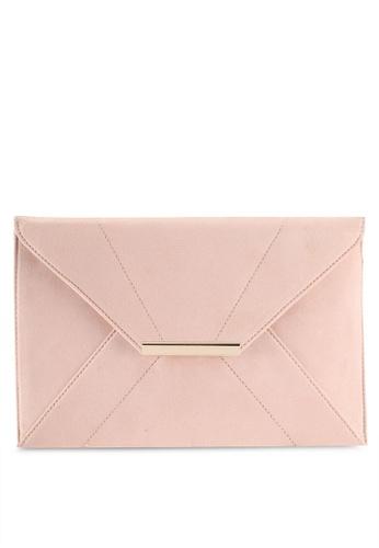 Dorothy Perkins pink Sesame Envelope Clutch 76B67AC74FAAEBGS_1