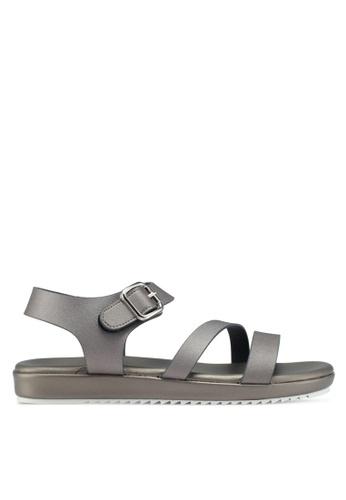 Bata silver Strappy Sandals 2CF9FSHD88089DGS_1