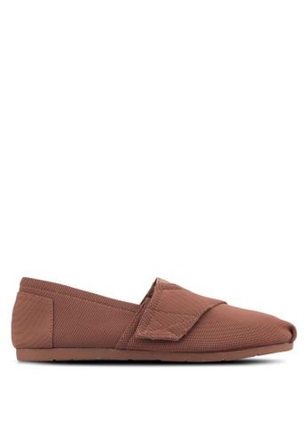 ZALORA brown Nylon Slip Ons With Velcro Fastening ZA423SH35ESAPH_1