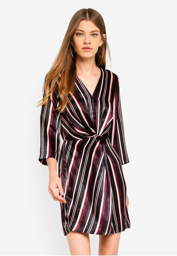 Miss Selfridge multi Berry Stripe Mini Dress 4E874AABF33B84GS_1