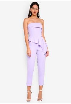 75ff68e34f0 Lavish Alice purple Bandeau Asymmetric Tapered Jumpsuit 85700AA867AC22GS 1