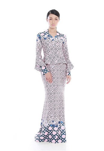 Jovian pink and purple Chinoiserie by Jovian Janet Peplum Styled Modern Dress in Purplish Pink A22C1AAAE5D493GS_1