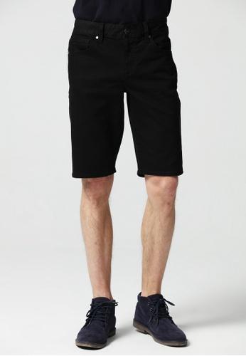 Guess black Regular Denim Shorts 743E1AA99CA237GS_1