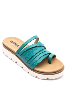Cut Out Slip On Sandals