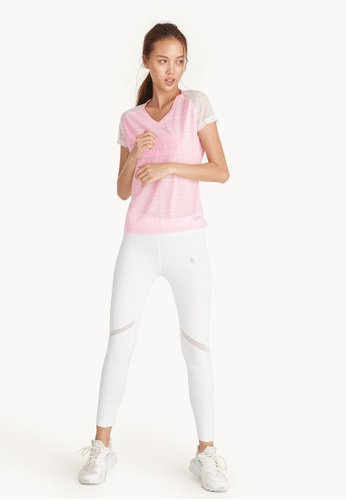 Pomelo pink Hit The Gym Graphic Baseball Tee - Pink 5F012AA736A265GS_1