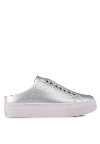 Something Borrowed 銀色 裝飾鞋帶厚底 懶人鞋 E05D7SH929F7BEGS_1