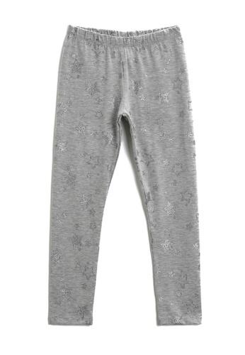 KOTON grey Glitter Star Print Leggings A02BAKAC22634AGS_1
