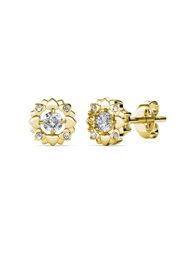 Her Jewellery gold Petal Love Earrings (Yellow Gold) - Made with premium grade crystals from Austria 8C46DAC36C8EC7GS_1
