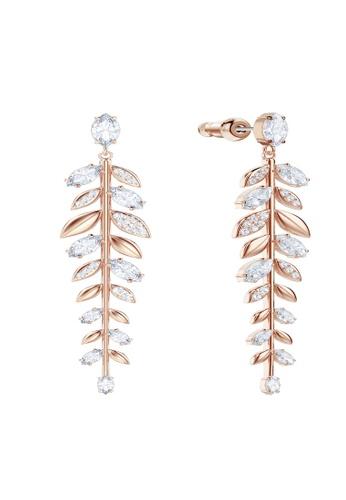 Swarovski gold Mayfly Long Pierced Earrings 60A11AC4143CDFGS_1