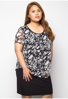 Plus Size Dress Short Sleeves