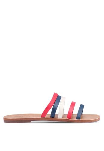 Anacapri 多色 Lines Flat Sandals B540CSHAF372ECGS_1