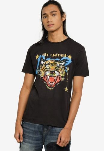 Guess black Short Sleeve Vintage Tiger Tee 5C8C5AA7C71851GS_1