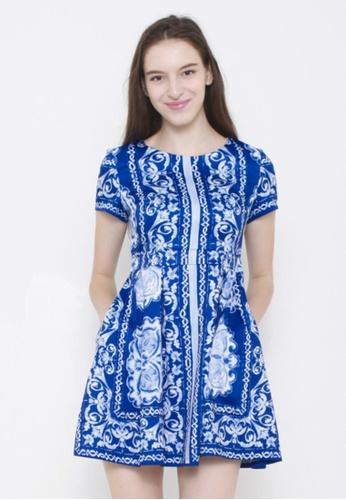 Leline Style blue Ariel Oriental Dress LE802AA21VAGSG_1