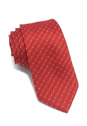Splice Cufflinks Atom Series Red Polyester Tie SP744AC38LOJSG_1
