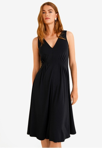 Mango black Dart Detail Dress ED989AA91D364AGS_1
