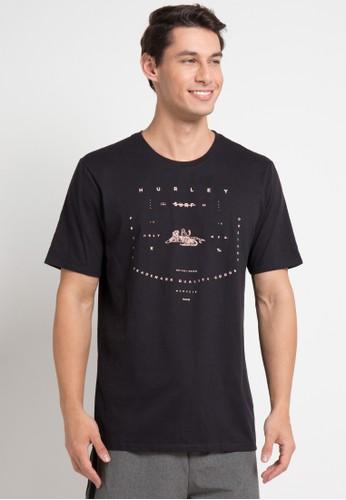 hurley black Tiger T-Shirt 27153AA3C128B6GS_1