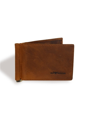 EXTREME brown Extreme Genuine Leather RFID Money Clip Wallet 0A2B2AC3598118GS_1