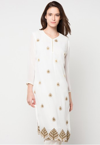 Chanira Festive Collection white Rayna Embroidered Tunic CH354AA36BJNID_1