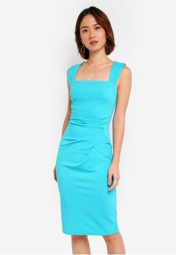 Dorothy Perkins blue Lagoon 'Lara' Midi Dress BA05DAA55AD646GS_1