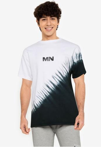 Mennace white Diagonal Dye Regular T-shirt 1212BAA965474EGS_1