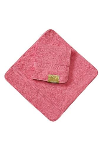Cotton Fields pink Cotton Fields Face Towel Plain 4D614HL410D439GS_1