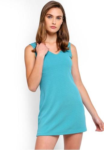 ZALORA BASICS blue Basic Back Insert Shift Dress 268FAAA5C768B5GS_1