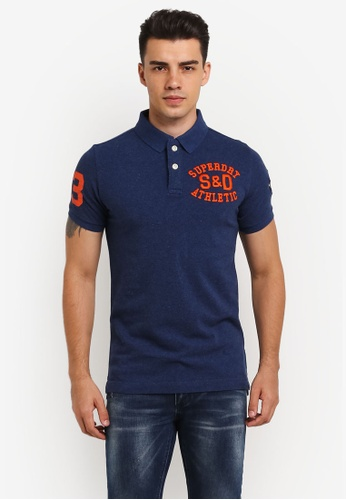 Superdry 藍色 CLASSIC S/S SUPERSTATE POLO SU137AA0RIO9MY_1