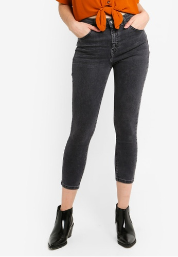 40fa7f29a5b Buy TOPSHOP Petite Washed Black Jamie Jeans Online on ZALORA Singapore
