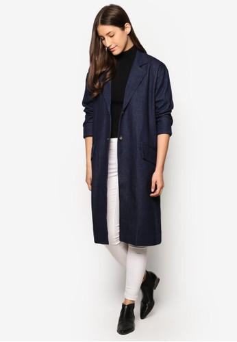 Collection 寬版丹寧大衣、 服飾、 外套ZALORACollection寬版丹寧大衣最新折價