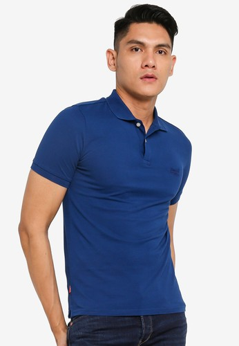 Superdry blue Classic Micro Lite Short Sleeve Pique Polo 945B9AA96FCAAFGS_1