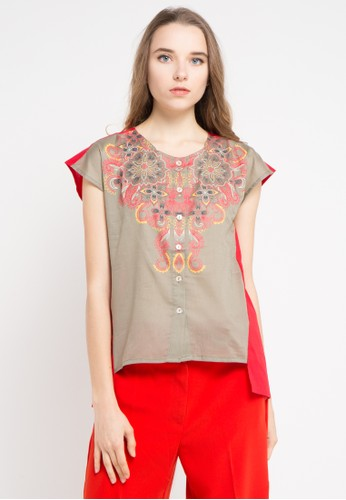 island story red Sleeveless Blouses With Print 9F2C8AAE533816GS_1