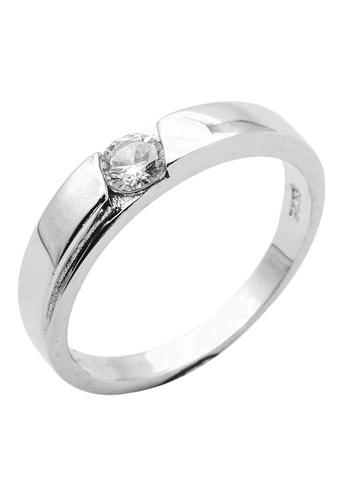 Elfi silver Elfi 925 Genuine Silver Engagement Ring R2 - The Destiny Awaits EL186AC79YCAMY_1