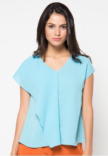 Raspberry blue Bonnie Short Sleeve Blouse RA572AA44QZZID_1