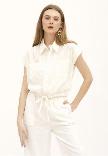 NOA EVERYDAY white HIROMI cropped shirt - White 581A6AAE4625DAGS_1