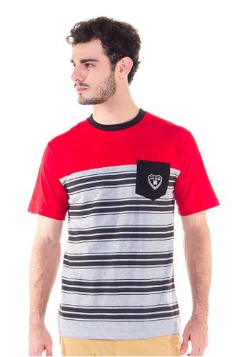 JAVA SEVEN Casual Men T-Shirt Mastoti Stripped Line Basic