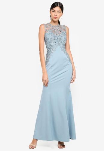 Little Mistress blue Glacier Sheath Maxi Dress 317E3AADEE1BECGS_1